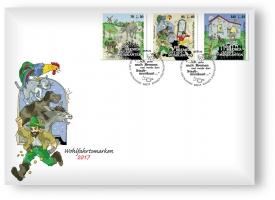 Ersttagsbrief mit 3 Wohlfahrtsmarken - Berlin